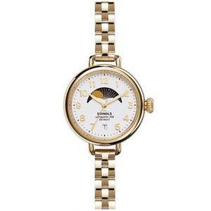 Shinola 'The Birdy' Moon Phase Gold-Tone Watch